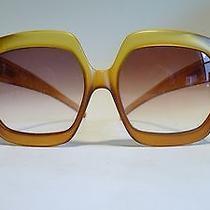 1960s 1970s Exceptional Oversized Christian Dior Sunglasses Vintage Photo