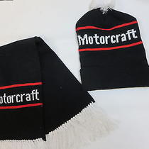 1960s 1970s Vintage Usa Made Ford Motorcraft Knit Hat and Scarf Dead Stock Nos  Photo