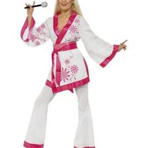 1970's Abba Thank You for the Muisc Fancy Dress Costume Kimono Size 14/16 Photo