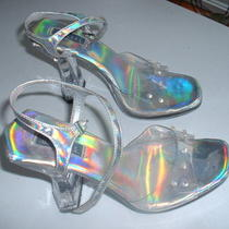 1970's Lucite Fancy Women's Shoes-Heels 4 1/2