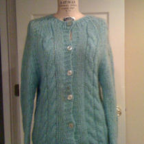 1970's Vintage Jane Hunter Teal Cable-Knit Sweater  Photo