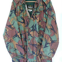 1970s Barbour Camouflage Waxed Cotton Jacket Large 42in (Military/dpm/sas/army) Photo