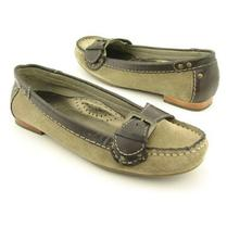 198 Cole Haan Air Parker Moc Suede Sage Leather Moccasin Flat Shoes Size 6 Narr Photo