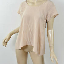 198 Joie Blush Pink Whisper Light Short Sleeve Scoop Neck a-Line Tee Top S Photo