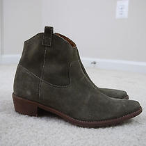198 Madewell J.crew the Barnwood Ankle Boot Golden Spinach Green Sz 9.5 9h New Photo