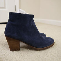 198 Madewell J.crew the Zipcode Ankle Boot in Suede Blue Sz 8 New Item 17198 Photo