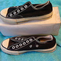 1980s Black Low Top Converse Made in Usa - Never Worn Photo