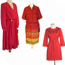 1980s Nwt Vintage Dress Lot Karin Stevens-Tf Dress- Embroidery Rhinestones  Photo