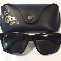 1980s Vintage b&l Ray Ban France Shiny Black Nylon G15 Cats 3000 Ski Sunglasses  Photo