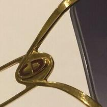 1980s Vintage Christian Dior Sunglasses Austria 2345 115 Gold Oversize Photo