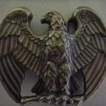 1982 Avon Majestic American Eagle Pewter Belt Buckle Boxed Photo