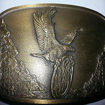 1982 Smith & Wesson Guns American Traditions Eagle Belt Buckle   Photo
