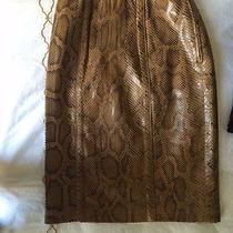 1983 Yves Saint Laurent Gold Python Pencil Skirt Photo