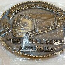 1988 Railroad Savings & Loans Belt Buckle First Locomotive the Diesel Series Photo