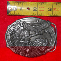 1989chief Eagle Feather Belt Buckle Native American Indian Design Arroyo Grande Photo