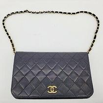1989 Vintage Chanel Black Cc Woc Wallet on Chain Gold Shoulder Bag Clutch 08897 Photo