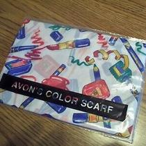 1993 Color Scarf 100% Polyester Created in Italy Exclusively for Avon Photo