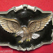 1997 Pewter Belt Buckle by Gap  1243  Flying Eagle  Photo