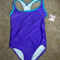1pc Purple /aqua   Design  Swim Suit  Size 4/5  by  Op       Photo