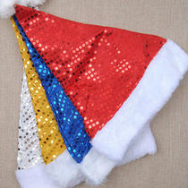 1pc Red New Year Decoration Christmas Decoration Cloth Hats Santa Clause Caps Photo