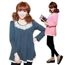1pcs Spring Autumn Maternity Mother Long Sleeve Loose T-Shirt Pink / Navy Blue Photo