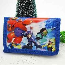 1x Big Hero 6 Disney Cartoon Fantasy Baymax Purses Wallets Children Gifts C17 Photo