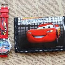 1x Disney Cartoon Fantasy Car Purses Wallets Watch Kids Children Gifts F293 Photo