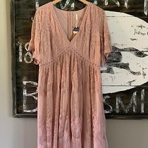 1x New Plus Size Blush Pink Floral Lace Maxi Dress Bridesmaid Party Womens Nwt Photo