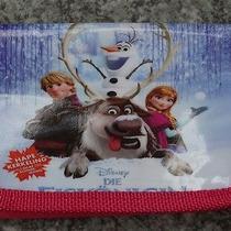 1x Pink Disney Cartoon Fantasy Frozen Purses Wallets Children Gifts F36 Photo