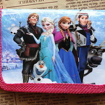 1x Pink Disney Cartoon Fantasy Frozen Purses Wallets Children Gifts F36 Photo
