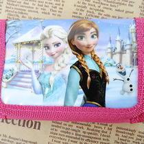 1x Pink Disney Cartoon Fantasy Frozen Purses Wallets Children Kids Gift New  F38 Photo