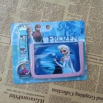 1x Pink Disney Cartoon Fantasy Frozen Purses Wallets Watch Children Gifts X118 Photo