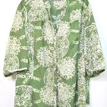 1x   Plus Classy Sassy Honeydew Green With Cream  Nifty Shirt Bust 54