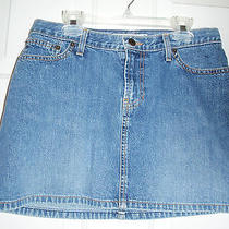 2 Abercrombie & Fitch Short Blue Jean Denim 100% Cotton Skirt Made in Usa Photo