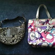(2) Authentic Coach Handbags Photo