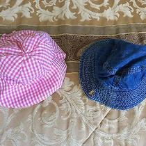 (2) Beautiful Baby Gap Infant Hats 12-18 Months. Photo