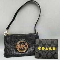 2 Black Michael Kors Wristlet & Mens Coach Wallet Photo