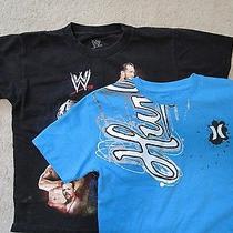 2 Boy's Shirts Hurley Wwe Size S Small Short Sleeve Tshirts Tees  Photo
