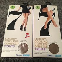 2 Brand New Sealed Packs Cooling Comfort Tights Natural Small Photo