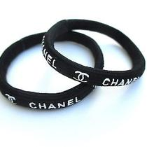 2 Chanel Hair Tie Band Black Vip Gift Not Sold in Store Photo