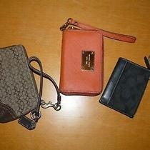 2 Coach 1 Michael Kors Assortment Lot Wallets Photo