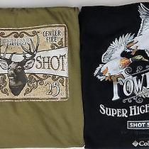 2 Columbia Mens Xxl T Shirts Phg Cotton Ss Ducks Stag Ducks Sure Shot Shells  Photo