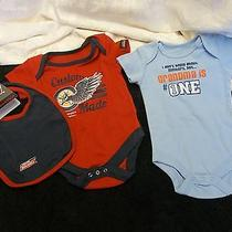 2 Different Baby Boy Dickies One Piece and Other 0/3 Month Very Cute Photo