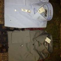 2 Express Nwt French Cuff Dress Shirts Photo