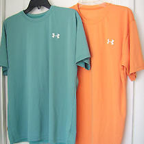 2 - Get Both Under Armour Sz M Loose Fit Shirts  -Miami Dolphins  Teal Orange Photo