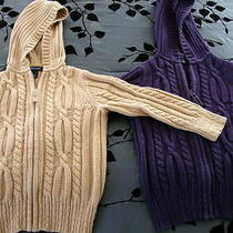 2 Land's End Children Zip Up Children Hooded Sweaters Photo