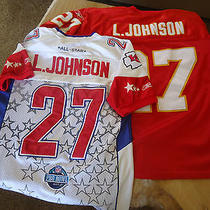 2 Larry Johnson Kansas City Chiefs Jerseys Pro Bowl All Sewn Reebok Nfl Size 48 Photo