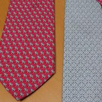 (2) Martha's Vineyard Vines Silk Tie Lot Golf Clubs & Chairs Photo