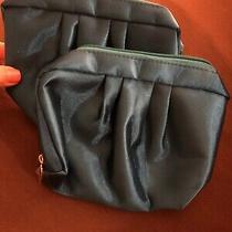 2 Matching New Clutch Bag Shiny Turquoise Cosmetic Purse Makeup Bag Nwot Zipper Photo