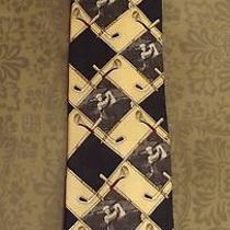 2 Mens Ties Payne Stewart & Flying Scotsman Golf Bags Golfer 100% Silk One Nwt  Photo